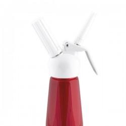Gräddsifon 0,5 liter Röd/vit