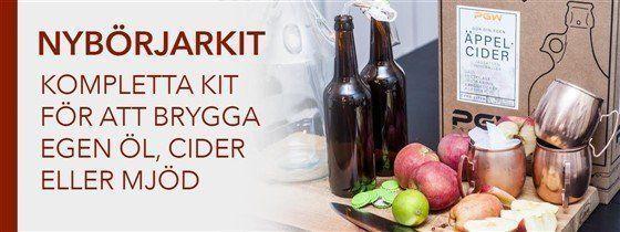 Hembryggning och nybörjarkit för öl